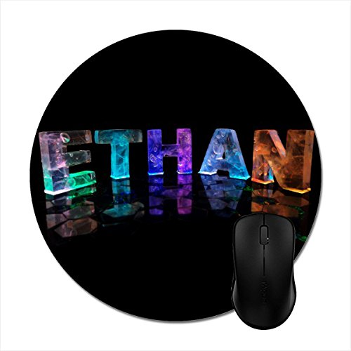 MousePad The Name Ethan In 3D Lights (Photograph) Print Mouse Mat