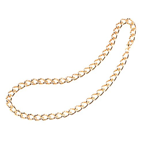 Bristol Novelty BA552 Heavy Duty Chain, Gold, One Size -