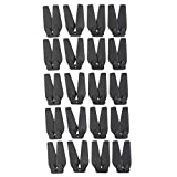 D DOLITY 20pcs RC Drone UAV Propeller Props for E58 S168 JY019 Four-axle Aircraft Remote Control Drone Quadcopter RC Hobby Spare Parts, Black