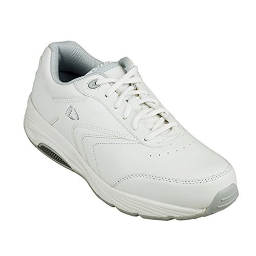 Instride Newport Women's Comfort Therapeutic Extra Depth Walking Shoe: White 7.5 Wide (D) Lace