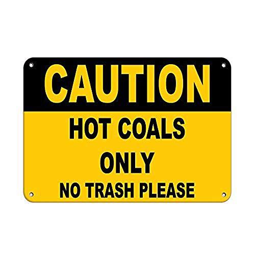 注意石炭はゴミ箱だけにしてください 金属板ブリキ看板警告サイン注意サイン表示パネル情報サイン金属安全サイン
