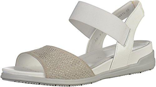 Ara 35912-05 Sandales À Bout Ouvert De Femmes Blanches - Blanc