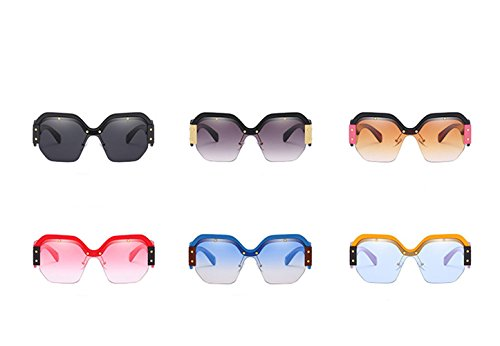rojo Gafas Mujer Gafas de de Sol progresivo sol Polvo Amarilla Gafas Anti marco Sol de Película RFVBNM Caja Azul UV Gafas Tendencia Marina FxwqfPqB