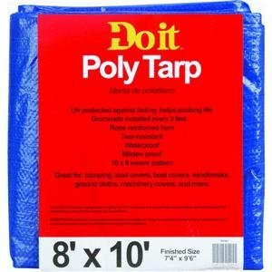 Med Duty Tarp (Do it Medium-Duty Blue Tarpaulin, 8X10 BLUE MED DUTY TARP)