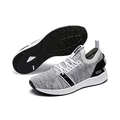 PUMA Men's NRGY Neko Engineer Knit Sneaker, Puma White-puma Black, 7.5 US