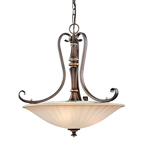 Hampton Bay 17262 Reims 3-Light Berre Walnut Pendant