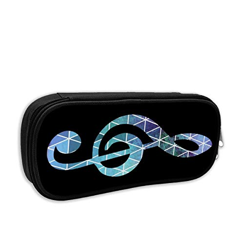 DAISY FORSTER Music Notation Pencil Case Pouch Bag Multifunction Cosmetic Makeup Bag School Office Storage Organizer