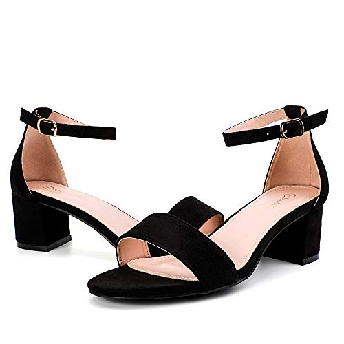 - Moda Chics Women's 2 Inches Chunky Heel Sandals for Party, Cocktail, Wedding Black MF 9 B(M) US