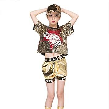 44cf9cf0c Voleseni™ Girls Boys Children Modern Jazz Hip-Hop Dancewear Kids Dance  Sequins Costumes Sets