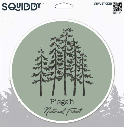 Squiddy Pisgah National Forest - Vinyl Sticker for Car, Laptop, Notebook (4