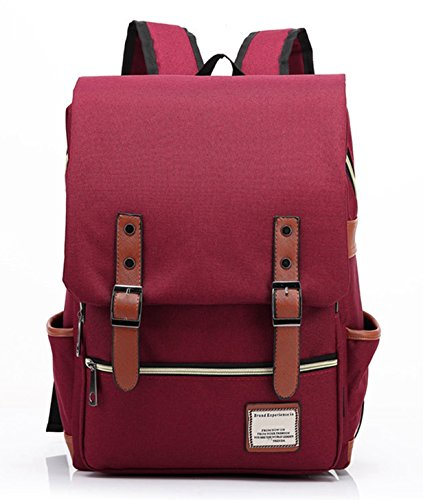 23be028984ef LeaLac Unisex Casual Lightweight Children School Bag Laptop Backpack Travel  College Backpack For Women FB01 Wine Red