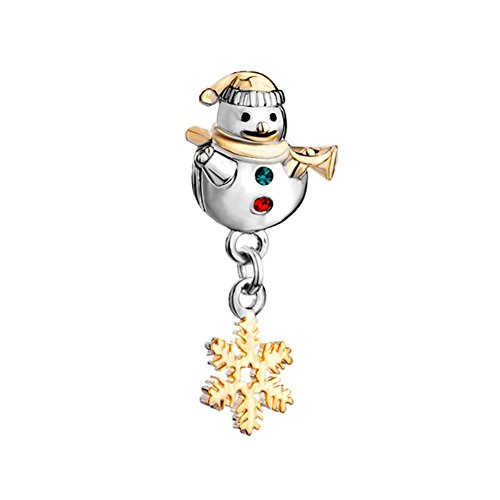 Pandora Snowman (DemiJewelry Winter Snowflake Snowman Charm Dangle Beads fit Charms Bracelets)