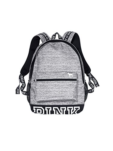 Victorias Secret Campus Backpack Marl Grey/ White Logo