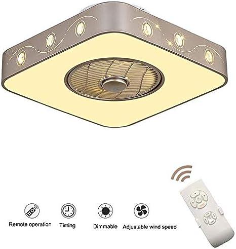 J.DM Los Ventiladores de Techo con iluminación Sigilo Original de controlar el Amortiguador alejado LED Ventilador de Techo Ultra silencioso Ventilador de Techo Que Viven Sala de la,C