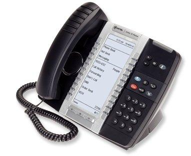 - Mitel 5340E VOIP Phone w/Big Backlit Display. SIP/MiNet, GigEth, 48 Key, PoE/AC