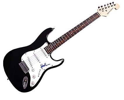 Sebastian Bach Skidrow autografiado, firmado guitarra eléctrica UACC R AFTAL