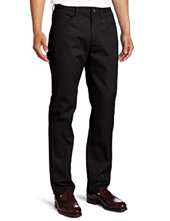 Lee Uniforms Men's Slim straight 5 pocket pant, Black, 28Wx30L