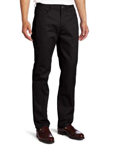 Lee Uniforms Men's Slim straight 5 pocket pant, Black, 34Wx32L