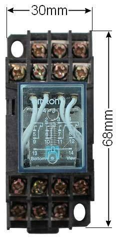 12V DC Relais 4x UM auch f/ür Hutschiene geeignet in 2 Spannungen w/ählbar 12V oder 230V
