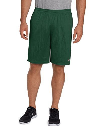 Champion Men's Long Mesh Short with Pockets, Dark