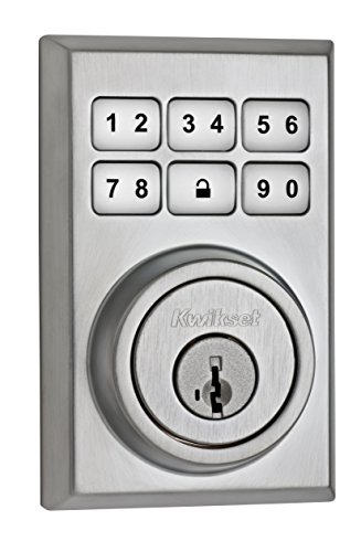 (Kwikset 99090-021 SmartCode Electronic Deadbolt Featuring SmartKey, Satin Chrome)