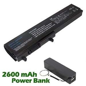 Battpit Bateria de repuesto para portátiles HP Pavilion DV3015tx Notebook PC (4400 mah) con 2600mAh Banco de energía / batería externa (negro) para Smartphone