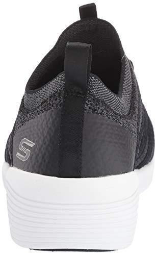 Black Knit Webbing Wedge Collar Skechers Qtr Noir nF0T4nHW