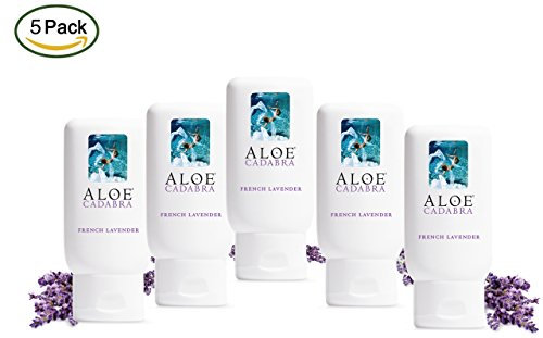 Aloe Cadabra Organic Personal Lubricant and Natural Vaginal Moisturizer with 95% Aloe Vera, Natural Aloe, 2.5 Ounce (Pack of 5)
