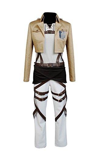 Cosplaybar Attack on Titan Survey Corps Eren Jaeger Cosplay Costume Female XS (Female Cosplay)