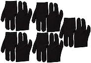 10pcs Black Stretch 3 Finger Gloves Billiard Cue