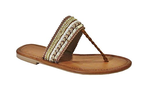 By Shoes -Sandalias para Mujer Camel
