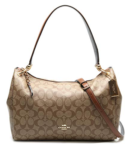 Coach Women's Mia Shoulder Bag No Size (IM/Khaki/Saddle 2)