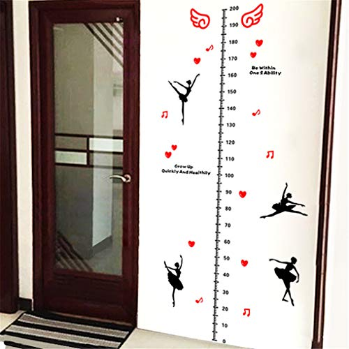 (Sykdybz Children's Height Sticker Student Bedroom Ballet Character Large Size 2 M Wall Hanging Measurement Chart )