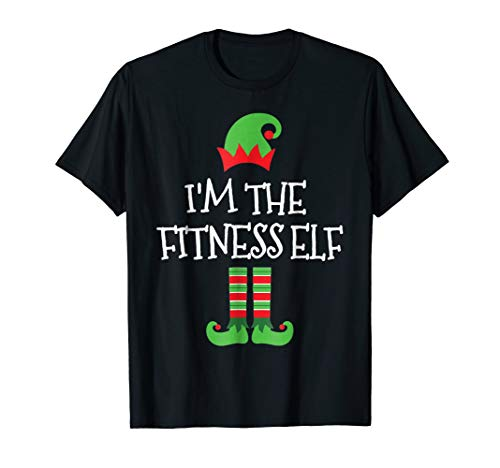 I'm The Fitness Elf Matching Family Group Christmas T Shirt ()