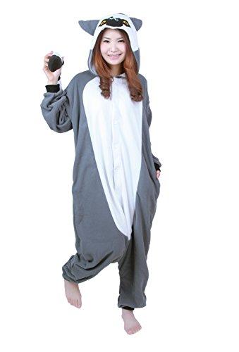 Honeystore New Unisex Pajamas Anime Cute Grey Monkey Cosplay Costume Pajamas