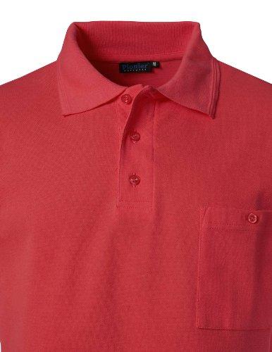 PIONIER WORKWEAR Herren Poloshirt-Piqué kurzarm in rot (Art.-Nr. 2714) rot,Größe XS