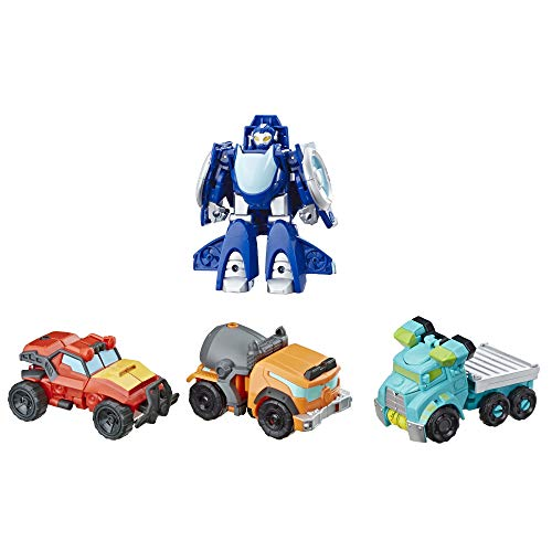 """41V4U50LjZL - Playskool Heroes Transformers Rescue Bots Academy Rescue Team Pack, 4 Collectible 4.5"""" Converting Action Figures, Toys for Kids Ages 3 & Up, Brown (E5099)"""