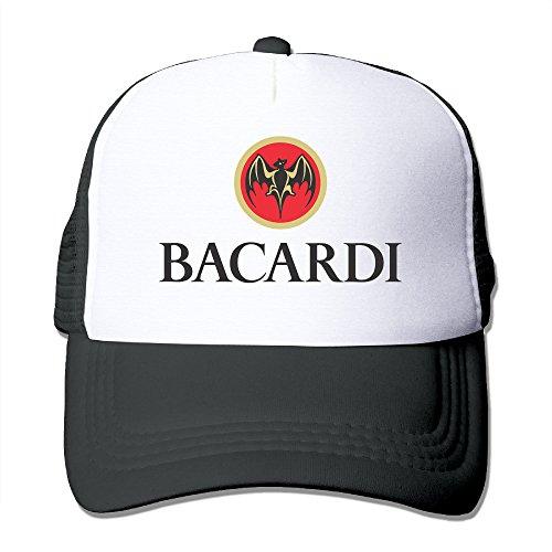 Zengbaba Unisex Bacardi Vector Logo Adjustable Mesh Baseball Hats Caps