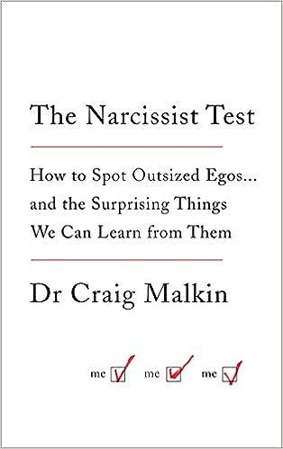 The Narcissist Test: Amazon co uk: Dr Craig Malkin