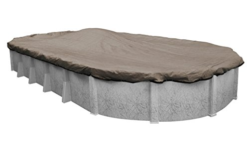Robelle 431527-4 Premium-Mesh XL Taupe Mesh Winter Pool Cover for Oval Above Ground Swimming Pools, 15 x 27-ft. Oval Pool