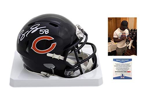 Roquan Smith Autographed Signed Bears Speed Mini Helmet - Beckett ()