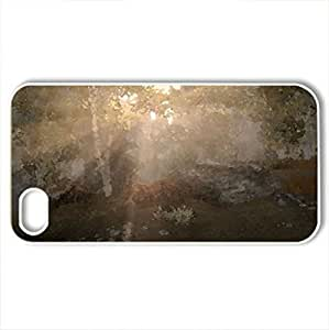 A brand new day - Case Cover for iPhone 4 and 4s (Forests Series, Watercolor style, White)