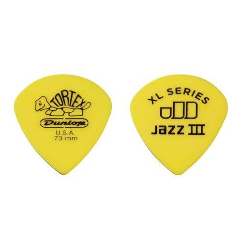 Dunlop 498P.73 Tortex Jazz III XL, Yellow, .73mm, 12/Player's Pack 12/Player' s Pack KMC Music Inc 23498073012