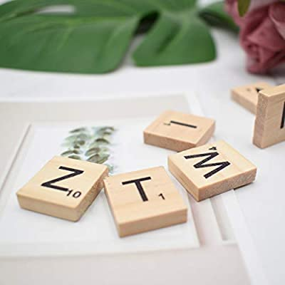 Luxtrip 300 Pcs Wooden Scrabble Tiles Wooden Scrabble Tiles A-Z Capital Letters for Crafts Scrabble Tiles Wooden Scrabble Word Letter Board Game DIY Wood Gift Decoration: Arts, Crafts & Sewing