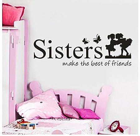 Wall Sisters Wake Up The Best Friends PVC Tatuajes De Pared ...