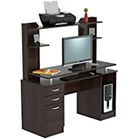 Inval America CC-4301 Computer Workcenter With Hutch