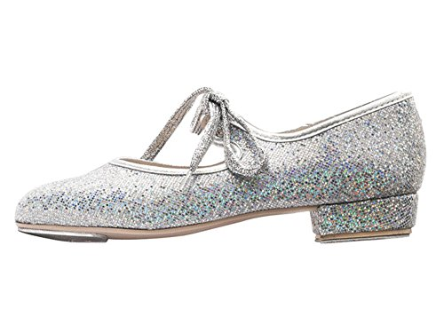 Silver With Tap Shoes Glitter Katz Childs Heel Dancewear 13 By Ladies Low Girls Dance Tap Plates UK 50qf81nW