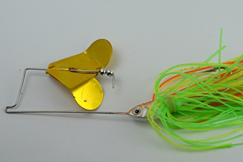 Akuna Buzzin Bomb 1/2-Ounce Buzzbaits Spinnerbaits (5-Pack), Green Monster, Five of One Color