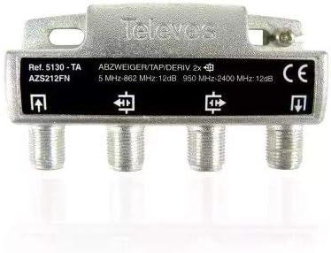 Televes 5130 - Derivador 2D Tipo ta con Conectores f: Amazon ...