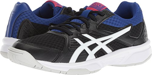 ASICS Women's Upcourt 3 Volleyball Shoes, Black/White, Size 9 by ASICS